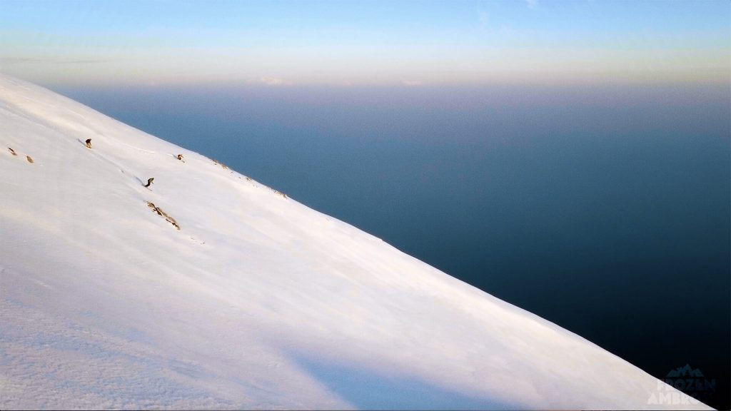 The first ski descent of Mount Athos, the Holy Mountain.