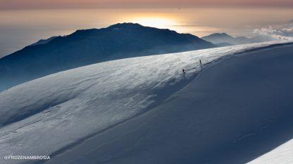 Ski touring on Psiloritis Mountain in Crete