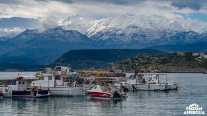 Crete Arising (Film) The White Mountains (Lefka Ori) above Chania, Crete, Greece.