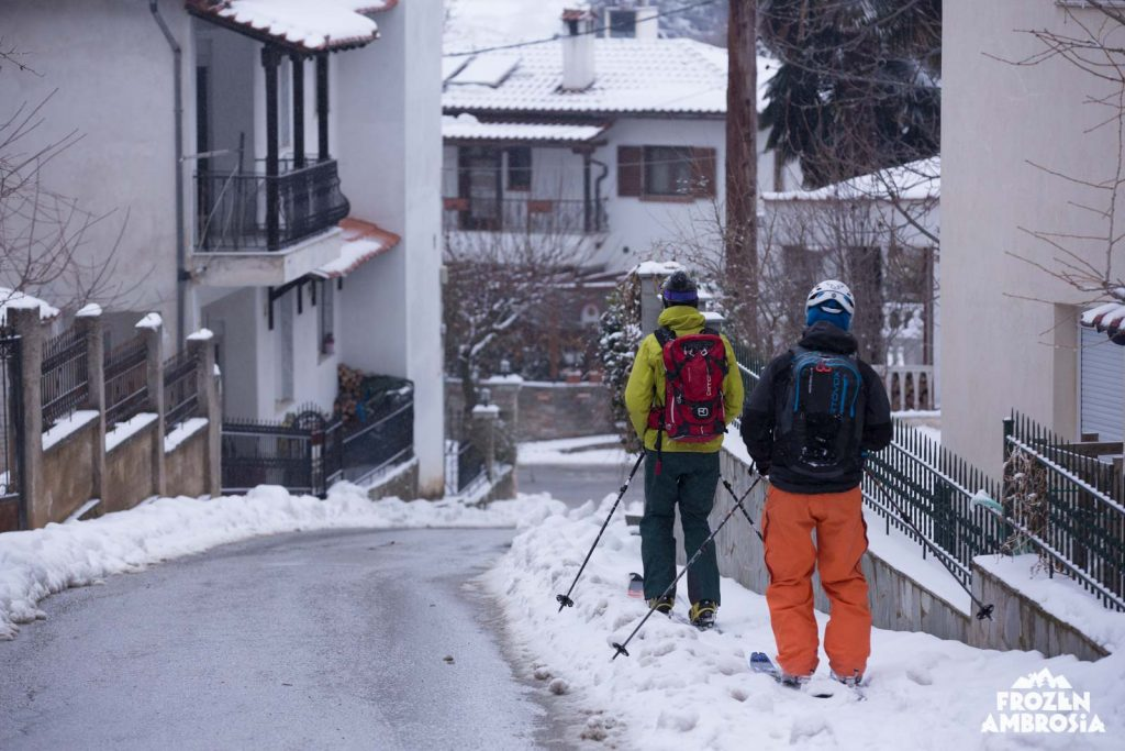 Ski touring in Thessaloniki on Chortiatis.