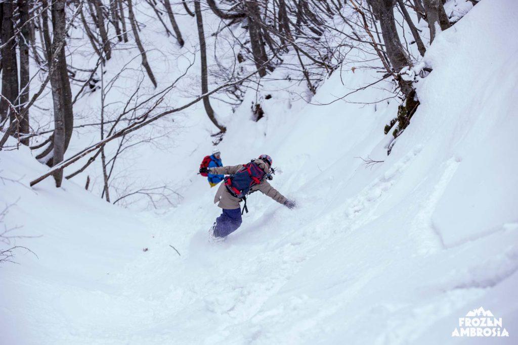 Ski touring in Pelion.