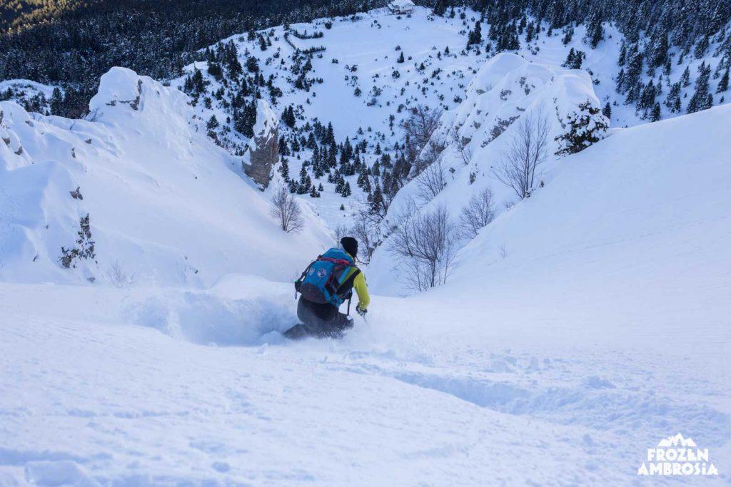 Ski touring in Tzoumerka
