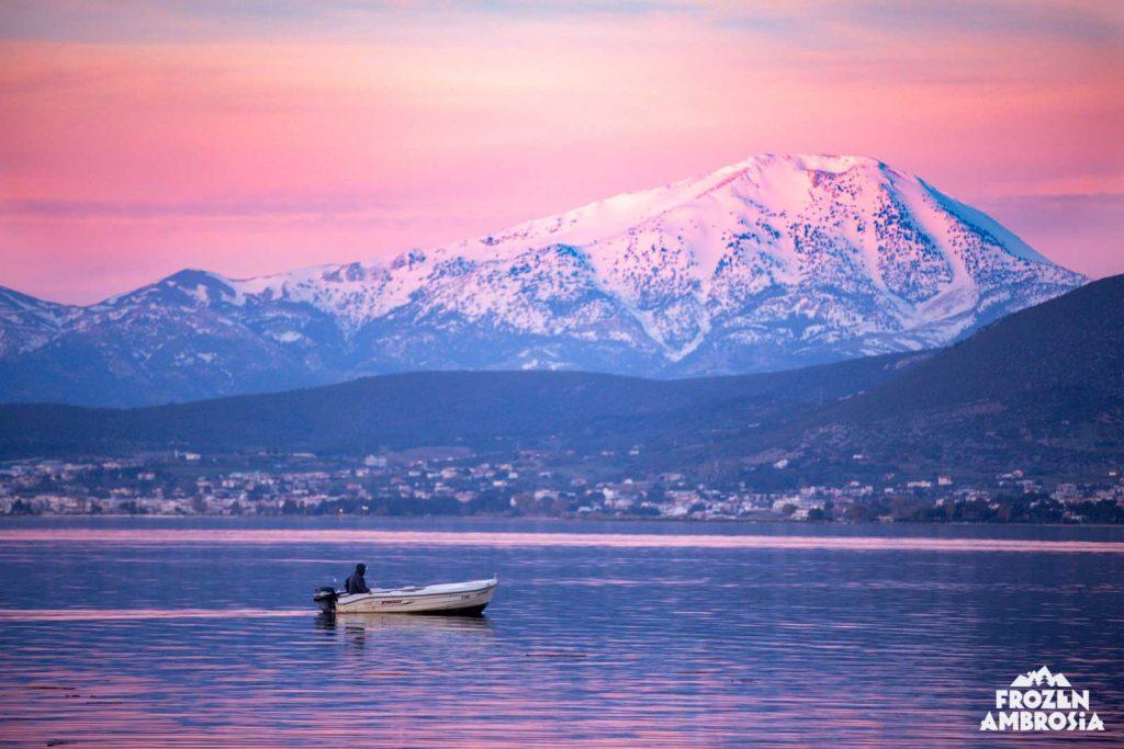 Ski Touring Dirfys in Evia, Greece.